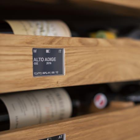 Weinregal VinoVIAVAI Detailansicht Bildschirm für den Wein
